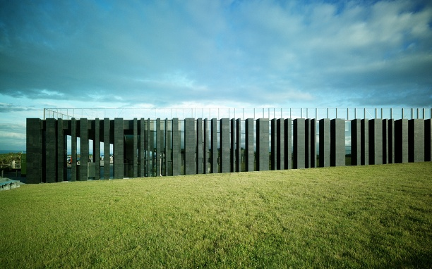 Giant's Causeway visitor centre by Heneghan Peng Architects