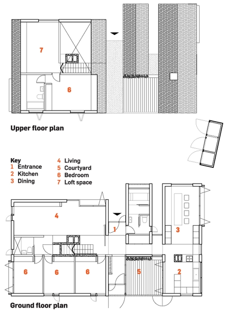Shingle House Nord: floor plans