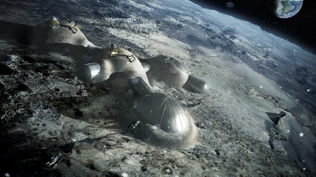 Foster Partners' 3D printed lunar base