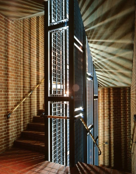 In Wright & Wright's Women's Library in east London the staircase was designed to be robust and easy to maintain. It echoes Mackintosh's use of steel and masonry; solid and void; and dark and light.