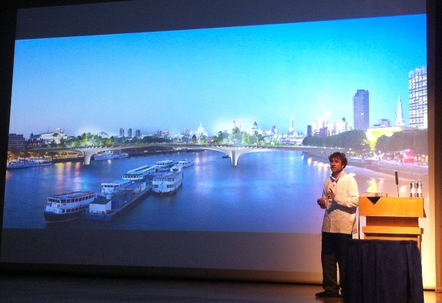 Thomas Heatherwick talking about the garden bridge at the NLA annual lecture
