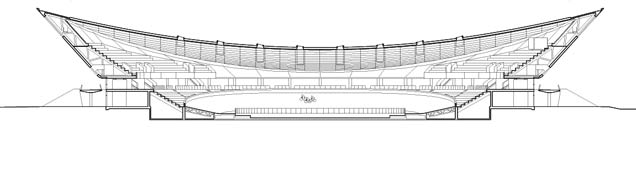 Velodrome cross section