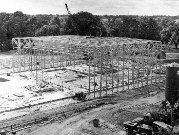 The centre's steel frame was largely constructed offsite.