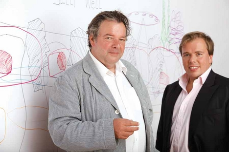 Will Alsop with his new boss, Peter Morrison of RMJM. (Courtesy RMJM)