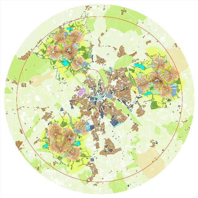 Urbed's Uxcester garden city plan
