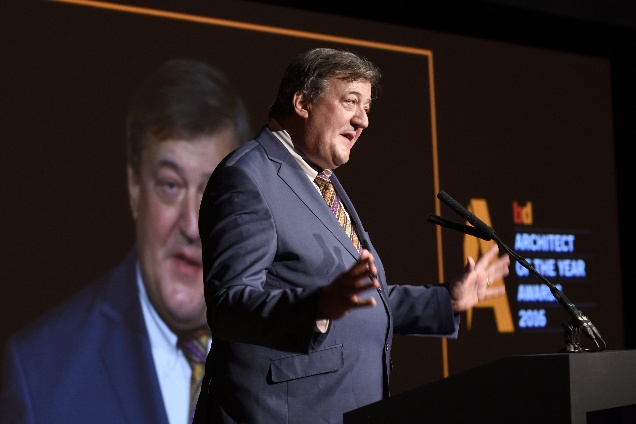 Stephen Fry addresses BD's Architect of the Year Awards 2016