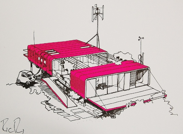 Richard Rogers House Zip up House by Richard Rogers