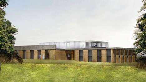 Bagby Airfield's clubhouse is planned to sit on sloping grassland in the Vale of York.