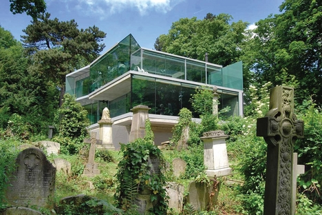 House overlooking Highgate Cemetery by Eldridge Smerin