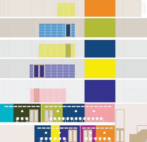 Section showing building's colour scheme