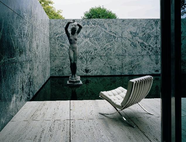 williams 39 inspiration the barcelona pavilion by mies van der rohe. Black Bedroom Furniture Sets. Home Design Ideas