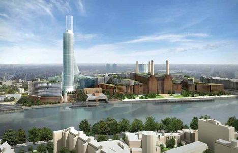 After widespread criticism the masterplan is revised. The chimney is cut by 50m