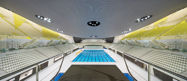 London 2012 Olympic Aquatics Centre by Zaha Hadid Architects