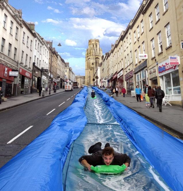 Bristol Park and Slide on Park Street by Luke Jerram