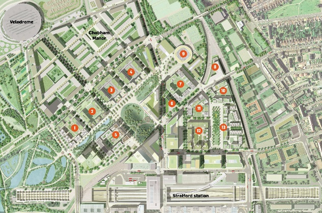 Olympic village siteplan