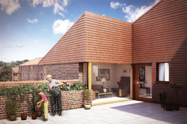 Elderly care home design home design and style Nursing home architecture