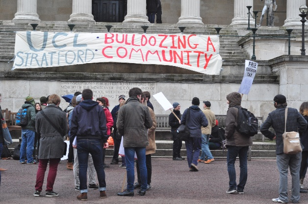 Student protesters at UCL