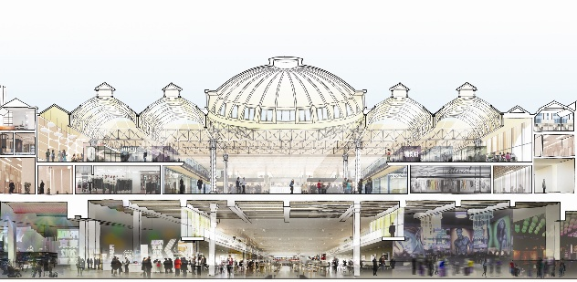 Burrell Foley Fischer and SAVE: Smithfield General Market proposal - detail