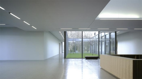 The interior is configured around a series of internal courtyards.