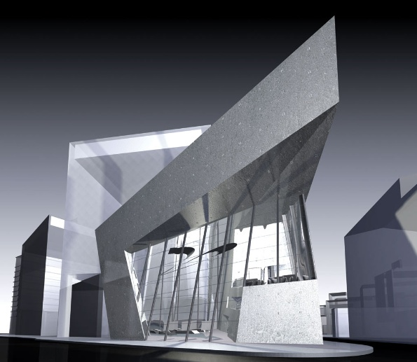 Hadid's design for the Architecture Foundation