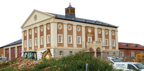 Poundbury Fire Station.
