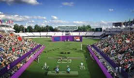 CGI of Lords Cricket Ground during the Olympic Games