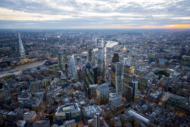 CGI of how future London will look, part of the NLA London's Growing Up exhibition