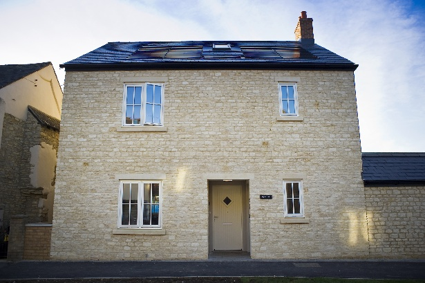 One of two eco-homes in Bicester, designed by David Stewart Architects