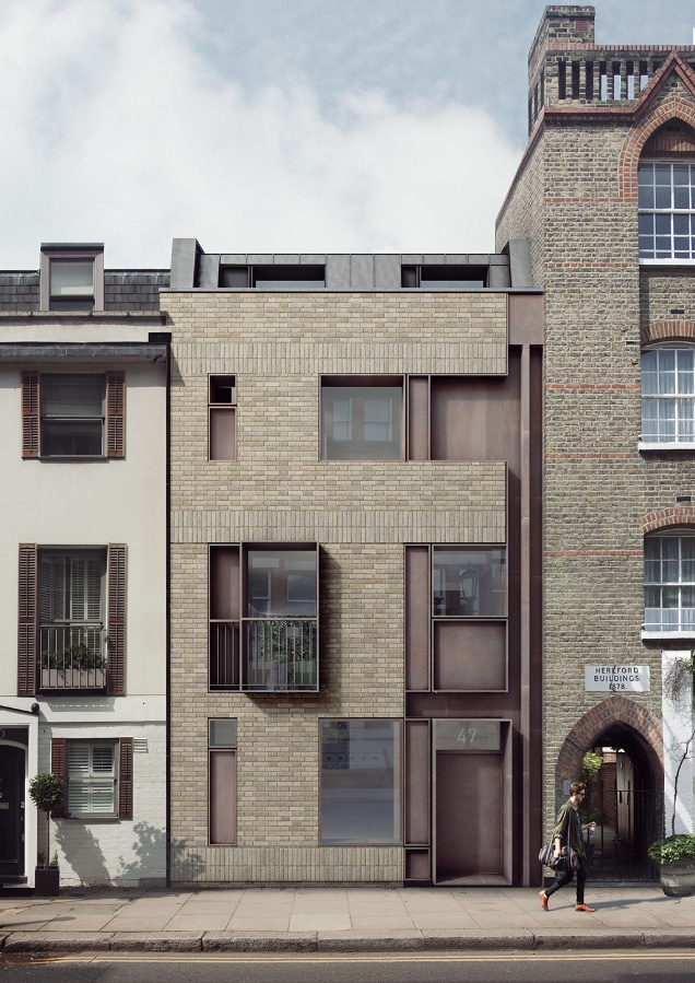 Tdo architecture gets planning for house on historic for Modern townhouse architecture