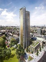 The 37-storey St Mary's Residential tower by Squire and Partners