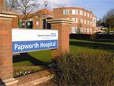 The existing Papworth Hospital entrance