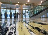 Bespoke rubber flooring was created for the Pirelli building in Milan.