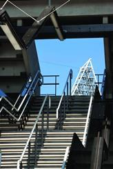 Fifty-six staircases provide quick access to the upper tier.