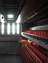 The theatre has a combination of fixed and retractable seating.