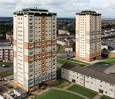 Steni Nature panels were specified by North Lanarkshire Council's project architect for the refurbishment of two apartment blocks in Motherwell.