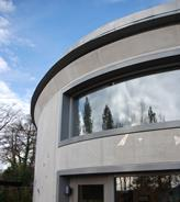 "A large ""letterbox"" was cut into one of the precast panels to create a panoramic window"