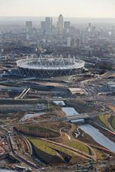 Olympic park and Canary Wharf