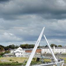 Peace Bridge, Londonderry by Wilkinson Eyre