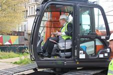 London mayor Boris Johnson kicks off construction at St Clements