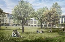 Roehampton University masterplan, showing buildings by MJP and Feilden Clegg Bradley Studios on the right