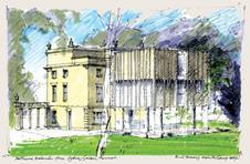 Parry's revised proposal for the Holburne Museum extension includes stone-coloured ceramic panels.