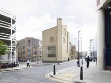 David Chipperfield house for Tracey Emin on Bell Lane in Spitalfields - from Artillery Lane
