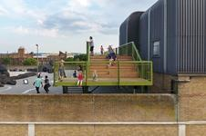 Cooke Fawcett Architects - viewing platform and kiosk project for Bold Tendencies, Peckham