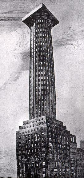 Top 10 Unbuilt Towers Chicago Tribune Tower By Adolf