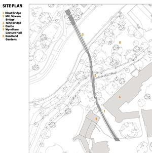Drawing board taunton castle bridges by moxon architects for Site plans online