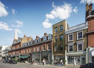 Aukett Swanke's proposal for Pimlico Road shops and Newson's Yard
