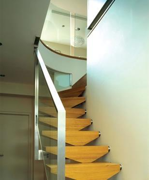 The mews house refurb included this stringerless stair.