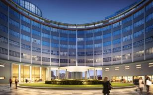 Helios Plaza CGI: AHMM is redeveloping BBC Television Centre in White City.