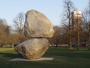 Fischli and Weiss' Rock on Top of Another Rock