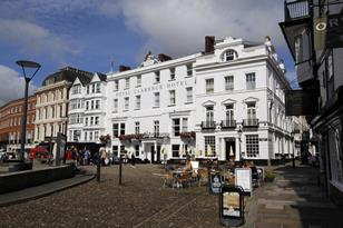 The Royal Clarence Hotel in Exeter before the fire